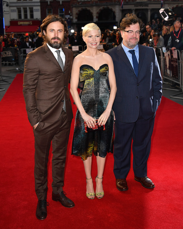 Manchester Casey Affleck Michelle Williams and director Kenneth Lonergan Gareth Cattermole Getty Images for BFI