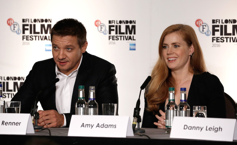 Arrival Jeremy Renner and Amy Adams John Phillips Getty Images for BFI