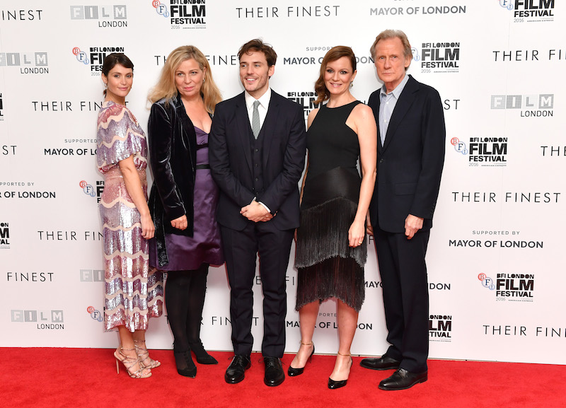 Their Finest Gemma Arterton director Lone Sherfig and actors Sam Claflin Rachael Stirling and Bill Nighy Gareth Cattermole Getty Images for BFI