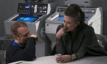 Rian Johnson i Carrie Fisher