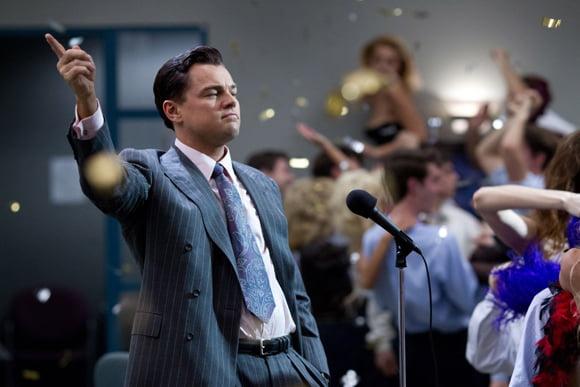 Leonardo DiCaprion w Wilku z Wall Street