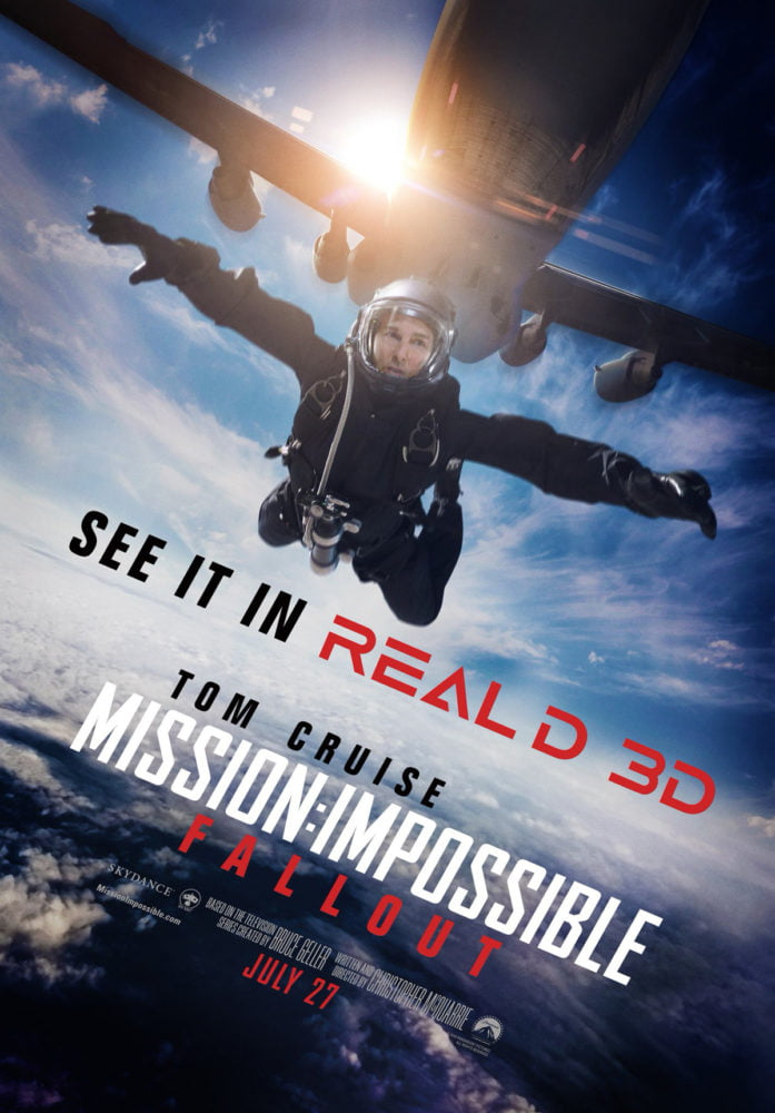 Plakat promujący film Mission: Impossible – Fallout!