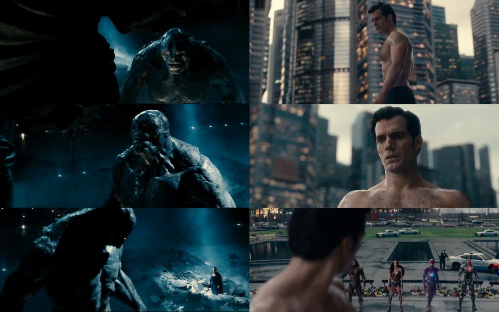 Porównanie kadrów z Ligi Sprawiedliwości i Batman v Superman.
