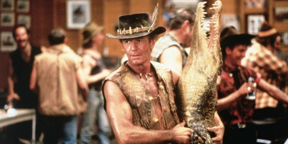 Kadr z filmu Krokodyl Dundee