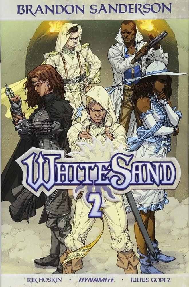 biały piasek komiks sanderson