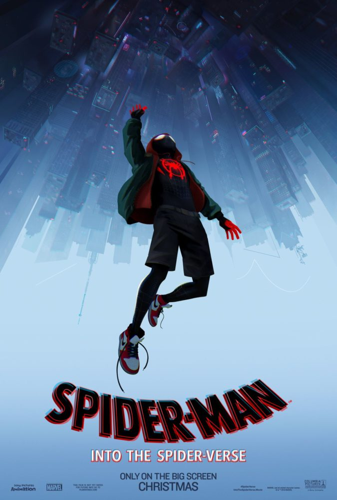 Plakat promujący film Spider-Man: Into the Spider-Verse!
