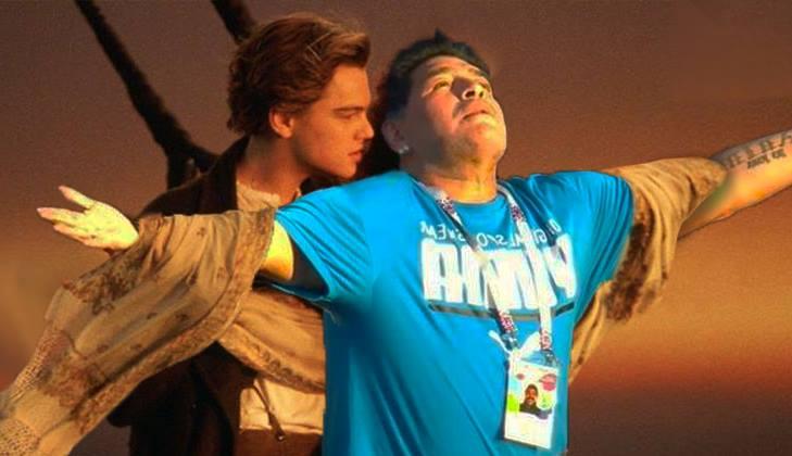 maradona mundial mem titanic argentyna