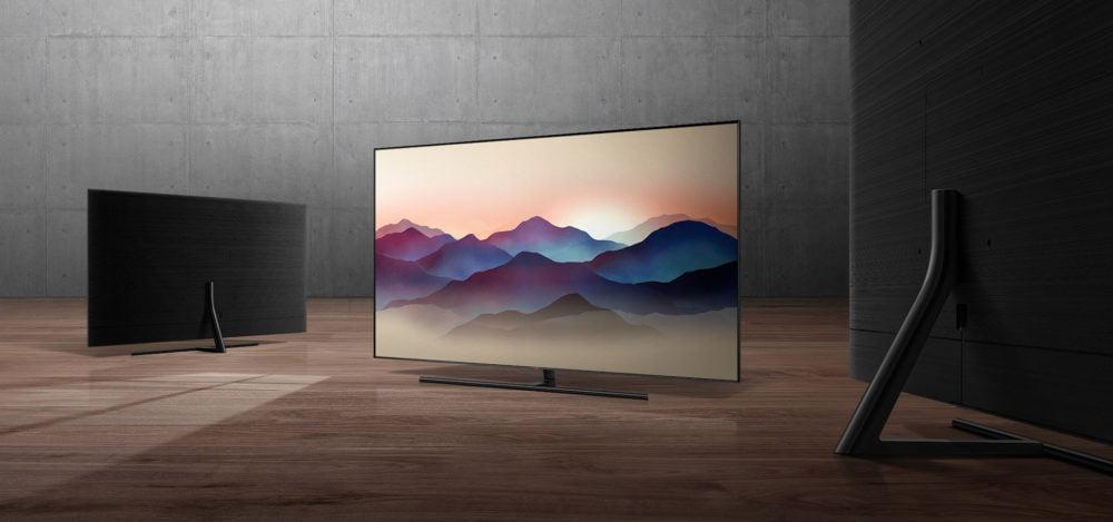 Qled TV na placu Europejskim