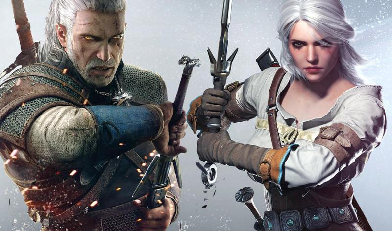 wiedźmin Geralt i Ciri