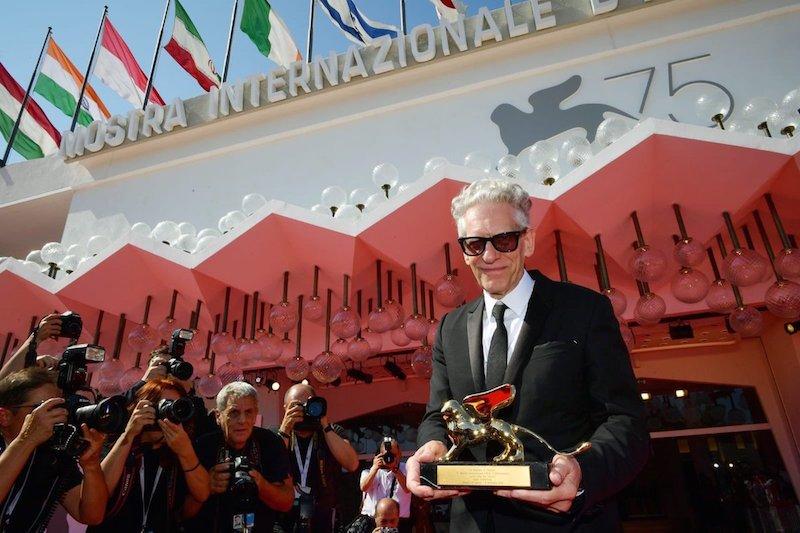 David Cronenberg ze Złotym Lwem / fot. Twitter LaBiennale