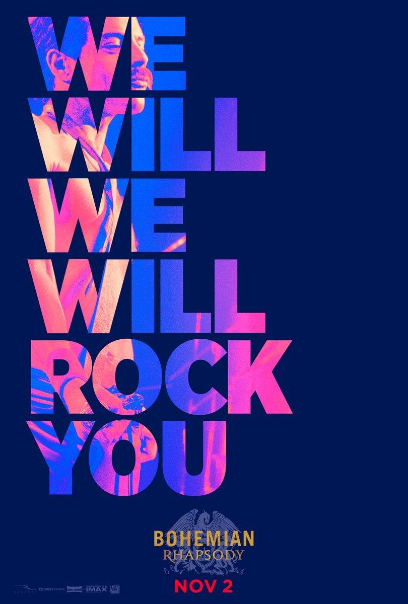Plakat promujący film Bohemian Rhapsody