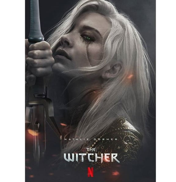 Natalie Dormer jako Ciri serial wiedźmin witcher fanart bosslogic
