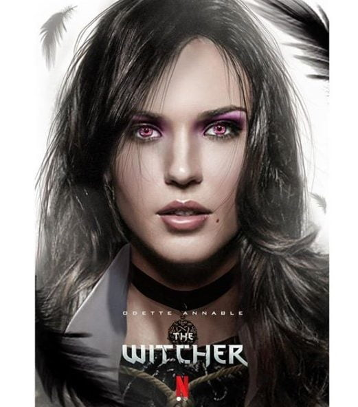odette annable wiedźmin witcher fanart yennefer