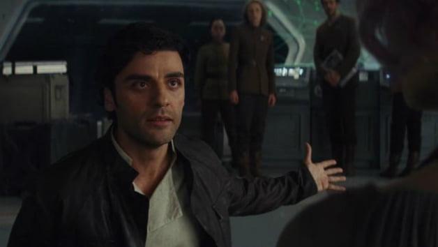Oscar Isaac jako Poe Dameron w Ostatnim Jedi