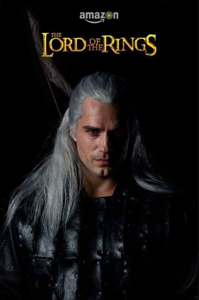Geralt mem przeróbka LOTR Amazon cavill geralt witcher