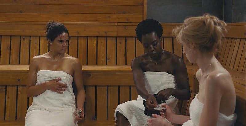 Kadr z filmu Wdowy / Michelle Rodriguez, Viola Davis i Elizabeth Debicki / fot. materiały prasowe