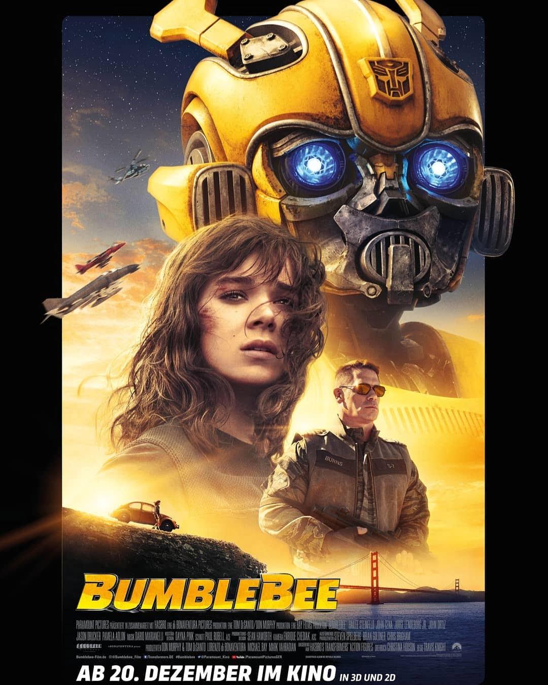 Plakat promujący film BumbleBee