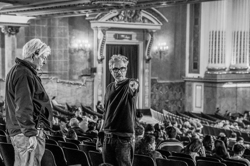 Alfonso Cuaron na planie filmu Roma / fot. materiały prasowe