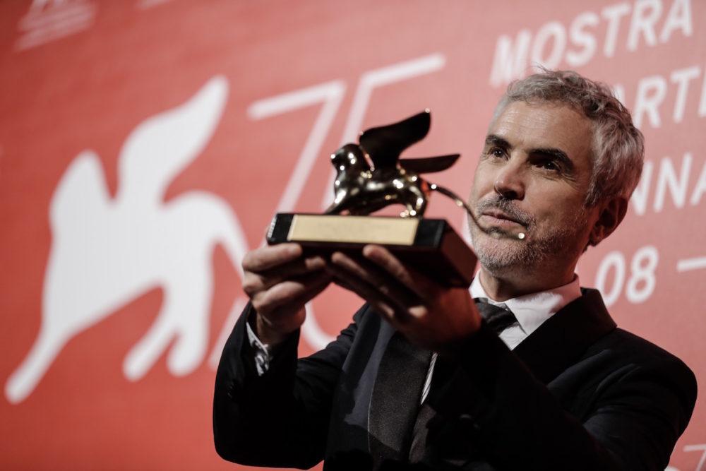 Alfonso Cuaron ze Złotym Lwem / fot. materiały prasowe La Bienalle
