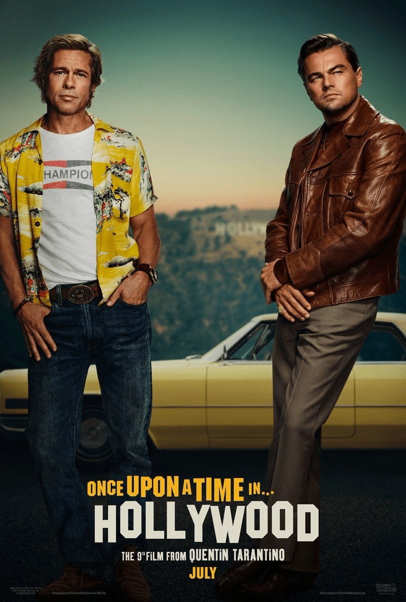 once upon a time in hollywood plakat tarantino pitt