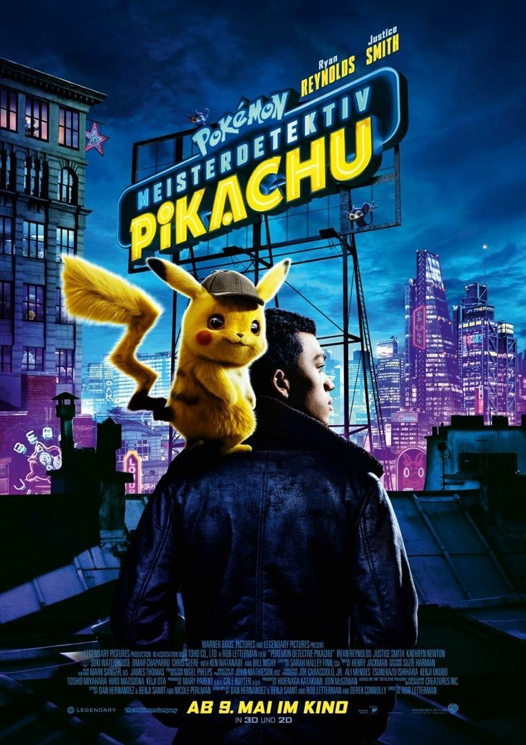 Pokémon Detektyw Pikachu Międzynarodowe Plakaty Filmu