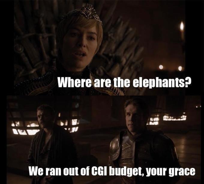gra o tron memy 8 sezon słonie cersei