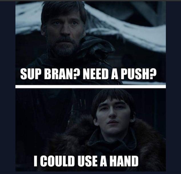 Gra o Tron 8 sezon memy bran lannister jamie