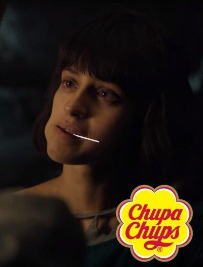 anya chalotra yennefer witcher wiedźmin chupa chups mem