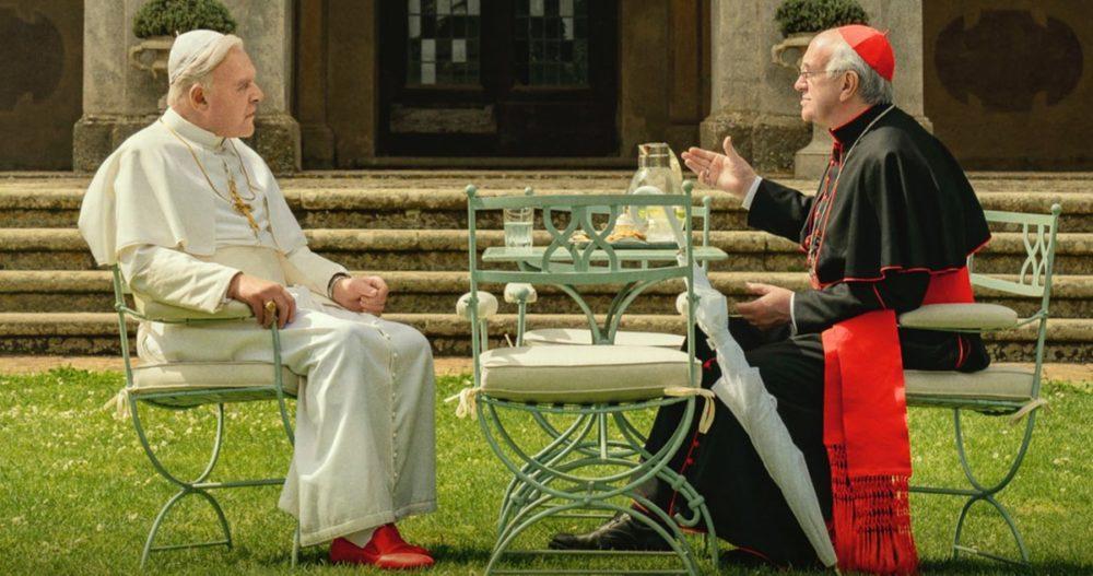 Anthony Hopkins i Jonathan Pryce w filmie Dwóch papieży / fot. materiały prasowe / Netflix