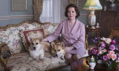 elżbieta II olivia colman piesek