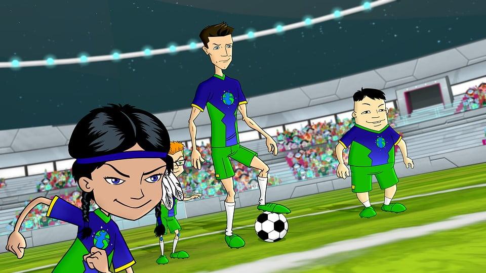 lewandowski kreskówka mecz