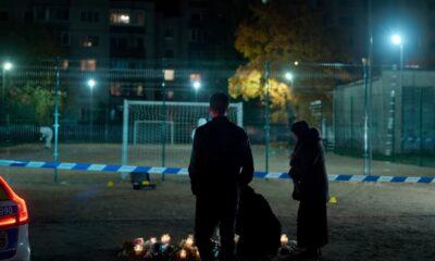 policja na miejscu zbrodni boisko