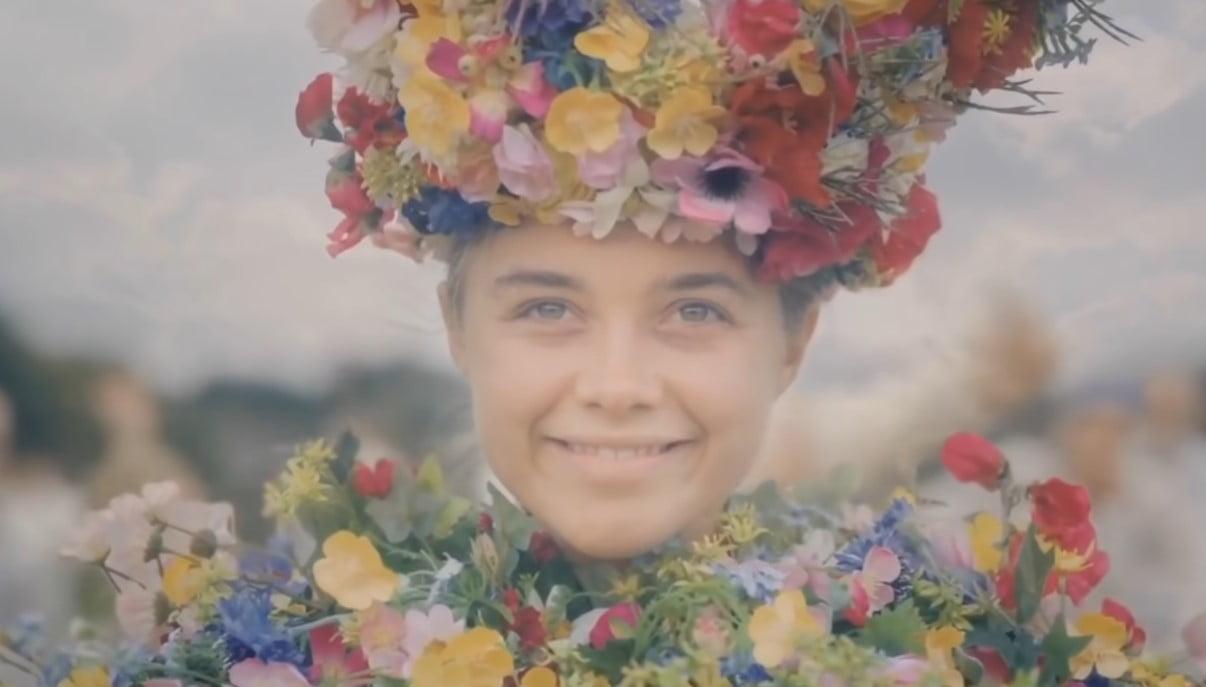 florence pugh midsommar kwiaty