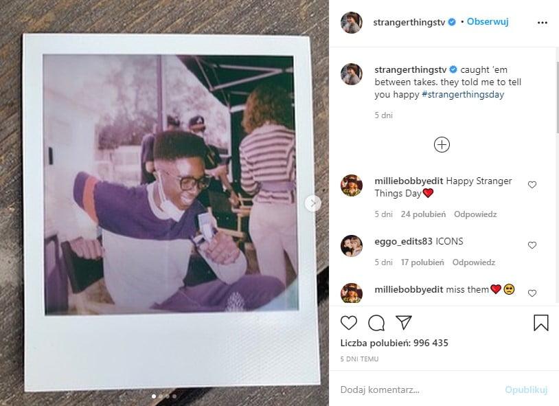 Zdjęcia zza kulis czwartego sezonu Stranger Things na oficjalnym instagramie