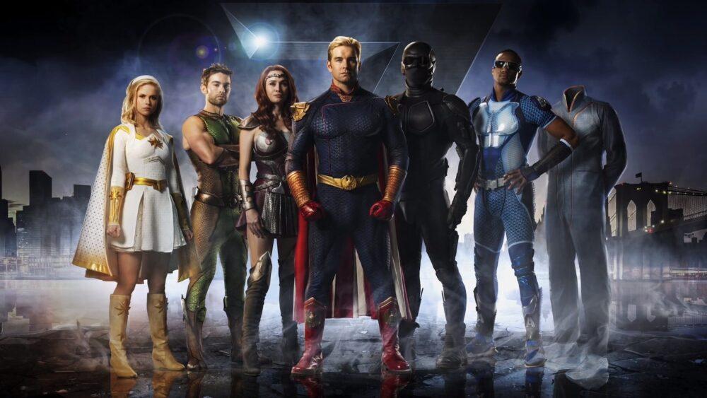 homelander i drużyna superbohaterów vought siódemka razem