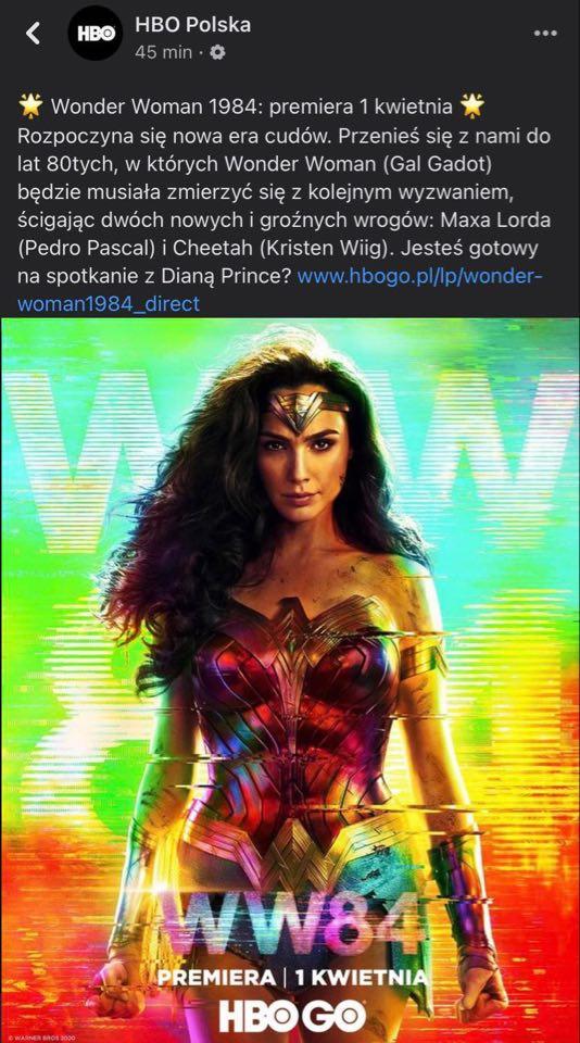 Wonder Woman 1984 - Premiera w Polsce na HBO GO!