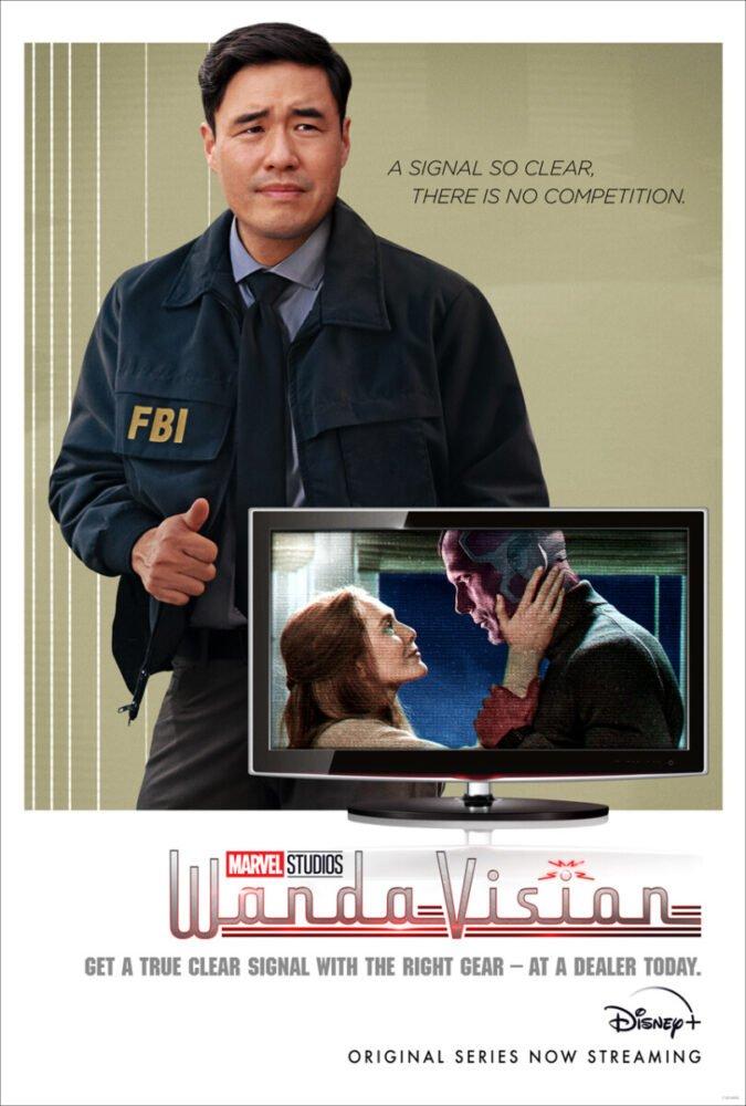 WandaVision - Jimmy Woo na pierwszym planie nowego plakatu
